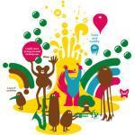 Sticker Lost of cuddles 1 di Domestic - Multicolore - Materiale plastico