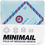 Suck UK Foglietti Promemoria | Busta da Lettera | Messaggi & Note | Design Classico & Vintage, Paper, Azzurro, 1