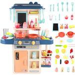 Symiu Cucina Giocattolo Set Cuoco Trucchi Bambina per Bambini con Accessori Cucina Gioco Imitazione Educativi per Bambini di 3 4 5 6 Anni
