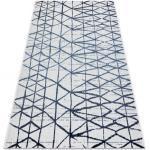 Tappeto COLOR 47278306 SISAL linee, triangoli beige / blu 60x110 cm