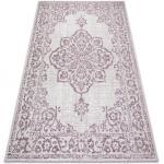 Tappeto COLOR 47295260 SISAL ornement, telaio beige / violet 60x110 cm