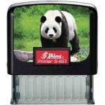 timbro new printer line 47x18mm-5righe 853 nero panda shiny