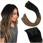 Parrucche marrone scuro naturali per capelli biondi capelli veri