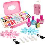 Ulikey Trucchi Bambina Set di Cosmetici, Kit Giocattolo Trucco Lavabile Makeup Set per Bambini, Trucco Ragazza Giocattolo per Bambini Trucco Ragazza Giocattolo (A)