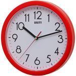 Unity Hastings Silent Sweep - Orologio da Parete Moderno, Rosso, 22 x 22 x 3 cm