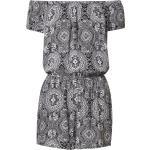 Urban Classics Tuta jumpsuit nero / bianco / grigio