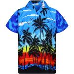 V.H.O. Funky Hawaiian Shirt, Beach, Blu, 5XL