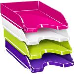 vaschetta portacorrispondenza ceppro gloss - 34,8x25,7x6,6 cm - verde anice - cep