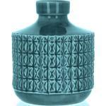 Vaso in ceramica blu ottanio