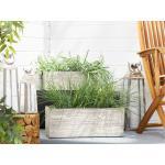 Vaso per piante in color legno bianco 42 x 13 x 15 cm PAOS