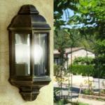 VENUS Mezza Lanterna a Parete Alluminio Illuminazione Esterno Giardino