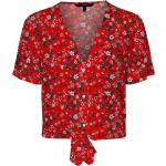 VERO MODA Camicia da donna 'Simply' rosso fuoco / bianco / lilla chiaro / verde