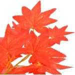 vidaXL Albero di Acero Artificiale con Vaso Rosso 120 cm