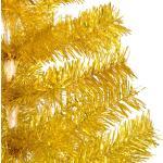 vidaXL Albero di Natale Artificiale con Supporto Oro 240 cm PET