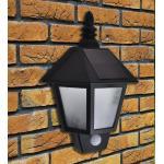 vidaXL Lampade Solari da Parete 2 pz con Sensore di Movimento Nero