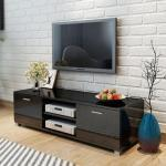 vidaXL Mobile TV Bianco Laccato Lucido 140x40,3x34,7 cm