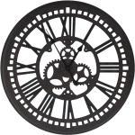 vidaXL Orologio da Parete Nero 70 cm in MDF