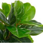 vidaXL Pianta Artificiale di Ficus Lyrata con Vaso Verde 152 cm