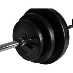 vidaXL Set Bilanciere con 2 Manubri 30,5 kg