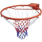 vidaXL Set Canestro da Basket Aracione Acciaio con Rete Gioco Pallacanestro