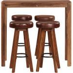 vidaXL Set da Bar 5 pz in Legno Massello di Sheesham 115x56x107 cm