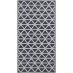 vidaXL Tappeto da Esterni Nero 80x150 cm in PP
