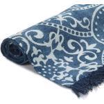 vidaXL Tappeto Kilim in Cotone 160x230 cm con Motivi Blu