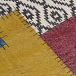 vidaXL Tappeto Kilim Tessuto a Mano in Cotone 160x230 cm Multicolore