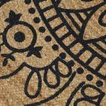 Tappeti marrone scuro design Vidaxl