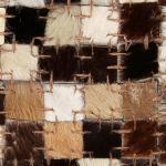 vidaXL Tappeto Patchwork Pelle Vera 80x150cm a Quadri Marrone/Bianco
