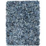 vidaXL Tappeto Shaggy a Pelo Lungo in Denim 190x280 cm Blu
