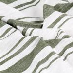 vidaXL Tende e Anelli in Metallo 2pz Cotone 140x245cm Verde a Strisce