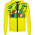 VR46 The Doctor Felpa con zip, giallo, dimensione S