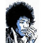 Wee Blue Coo Photo Painting Rock Legend Jimi Hendrix Graphic Art Print Poster Wall Decor 12X16 inch Fotografia Pittura Roccia Leggenda Grafico Manifesto Parete