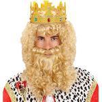 WIDMANN - Parrucca da Sovrano con Barba e Baffi, Bionda