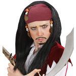Widmann Pirata dei Caraibi con Bandana E Perline in Sacchetto Parrucca 208, Multicolore, 8003558628902