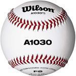 """Wilson A1030 Championship Series Flat Seam, Palla da Baseball E Softball Unisex – Adulto, Bianco, 9"""" FS, 1 unite"""