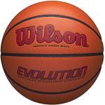 Wilson Evolution Game Ball, WTB0595XB0705 Pallone da Basket, Indoor, Cuoio Composito, Scuola Superiore, Dimensioni Ufficiali 74.9 cm, Rosso