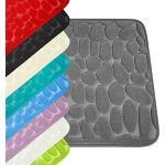 WohnDirect Tappeto da Bagno con Memory Foam • Tappetino Antiscivolo • Lavabile e ad Asciugatura Rapida • Ideale Come Tappetino da Doccia • Tappeto per Bagno 50 x 80 cm • Colore: Blu