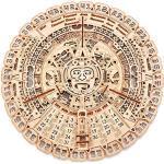 Wood Trick - Calendario Maya - Puzzle 3d di legno Tagliato al Laser - Set di Costruzione Meccanica - Rompicapo per Bambini, Ragazzi e Adulti - Assemblaggio senza colla- 73 pezzi