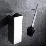 WYWY Scopino Porta scopino da Bagno Quadrato in Acciaio Inossidabile Portautensili for la Pulizia del Bagno con scopino for WC scopino per WC (Color : Chrome)