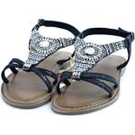 XTI Black Metallic Ladies Sandals, Sandali Aperti Donna, Nero, 40 EU