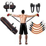 YNXing Strength Training Rope per Boxe, Basket, Scherma Allenamento Resistenza Corda Blu Stretch Cord Tensione Corda Attrezzature per Il Fitness (Kit Arancione)