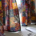 YUNSW Tende in Lino di Cotone Stile Bohemien Tende per Soggiorno Camera da Letto 70% Tende per Tende Ombreggianti per Finestre 140X215Cm