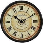 YXMxxm Orologio da Parete retrò, Orologio da Quarzo Silenzioso Digitale Grande Roma, Orologi da Cucina Vintage per Cucina, Camera da Letto, Giardino, Soggiorno, Studio, Ufficio