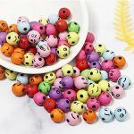 YYAOO 200 perline colorate in resina acrilica perline colorate faccine sorridenti set per gioielli fai da te fatti a mano bracciale, orecchini, collane, artigianato