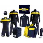 """Zeus Apollo Set da calcio Box teamwear da 12 pezzi Navy giallo"""""""