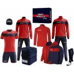 "Zeus Apollo Set da calcio Box teamwear da 12 pezzi Rosso Navy"""