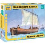 Zvezda Z9033 Medieval Life Boat Kit 1:72 Modellino